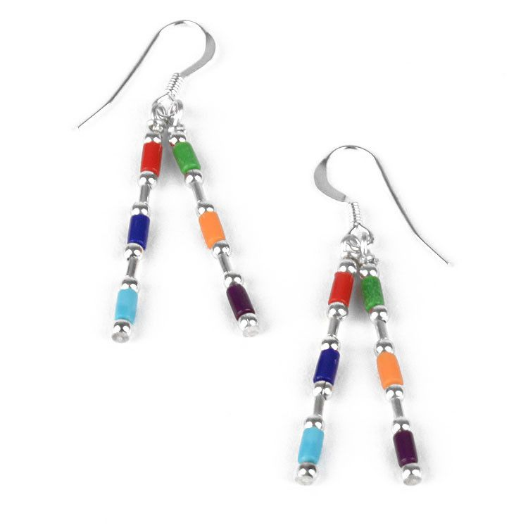 Fun Colorful Bars Earrings