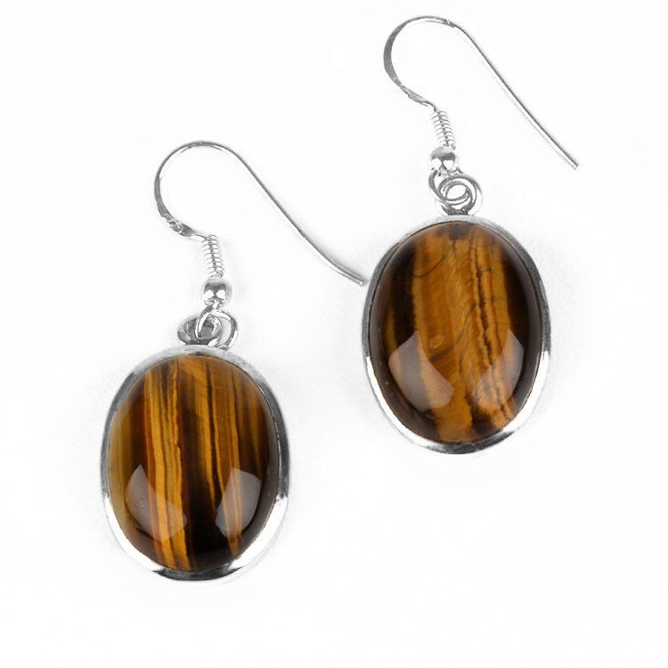 Tiger Eye Gemstone Earrings