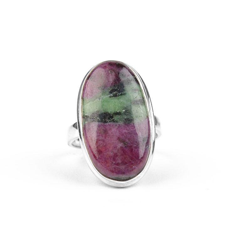Classic Ruby-Zoisite Ring
