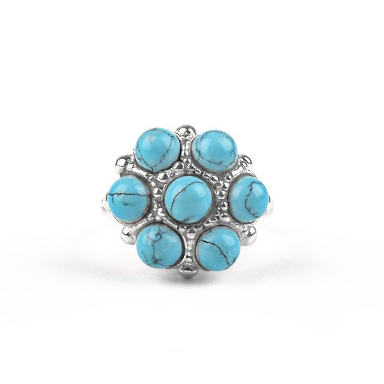 Cute Turquoise in Silver Ring