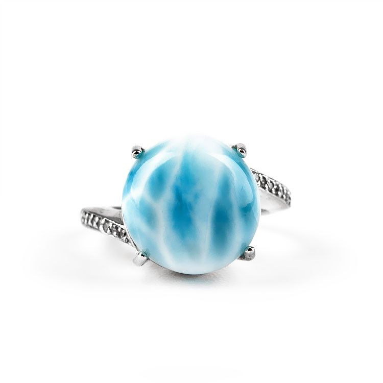 Elegant Larimar Gemstone Ring
