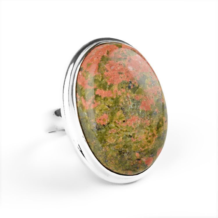 Unakite Jasper Gemstone Ring