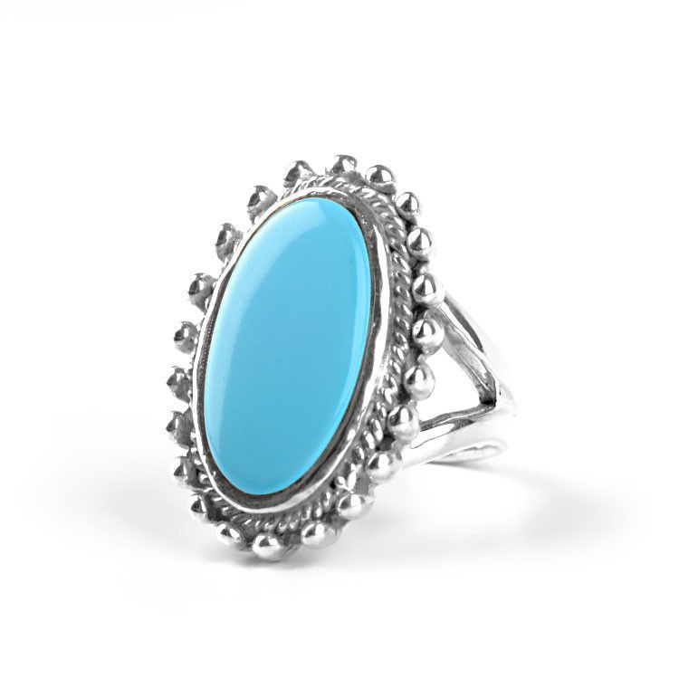 Turquoise Gemstone in Silver Ring