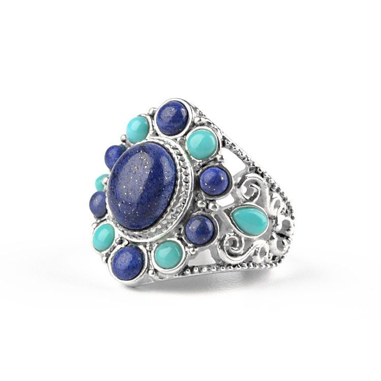 Outstanding Lapis Lazuli & Turquoise Ring