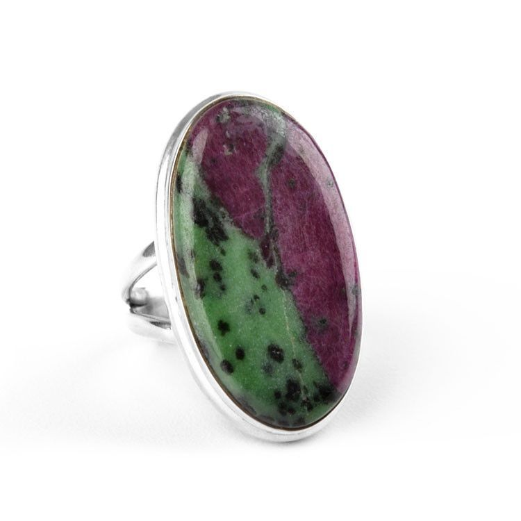 Ruby Zoisite & Sterling Silver Ring