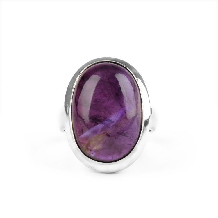 Classic Oval Fluorite Ring