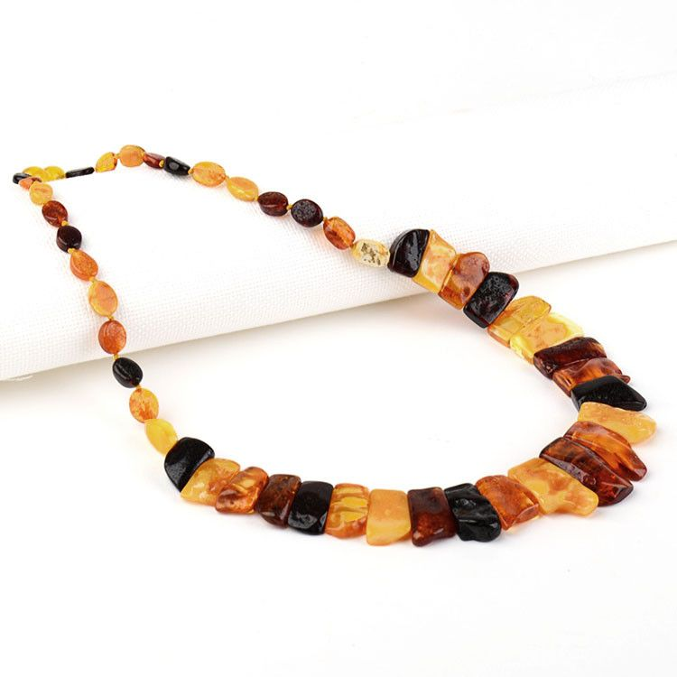Multi-Colored Natural Amber Necklace