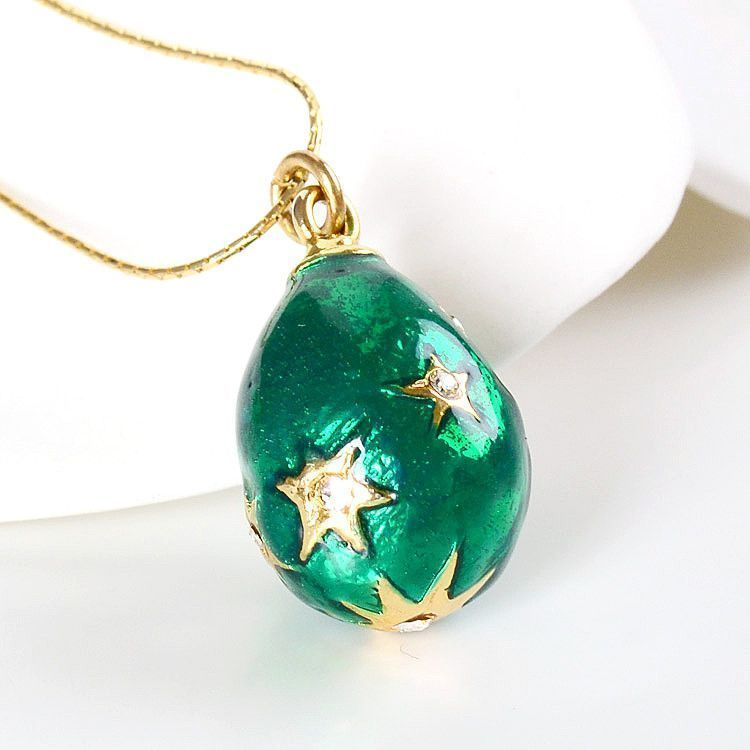 Green Faberge Egg Pendant
