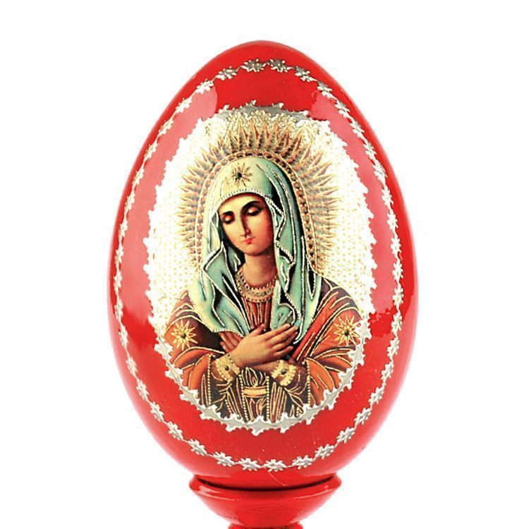 Madonna Russian Wooden Egg