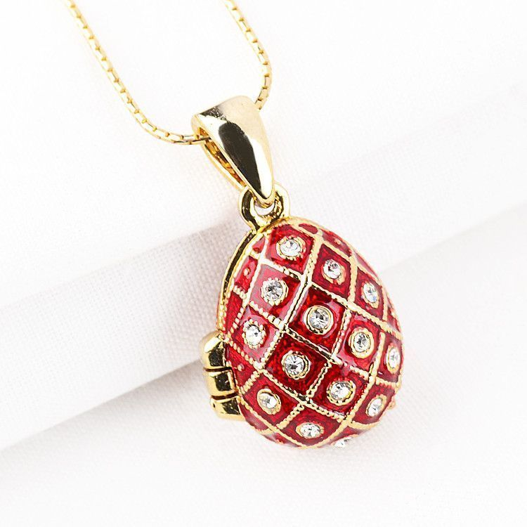 Angel Red Faberge Egg Locket