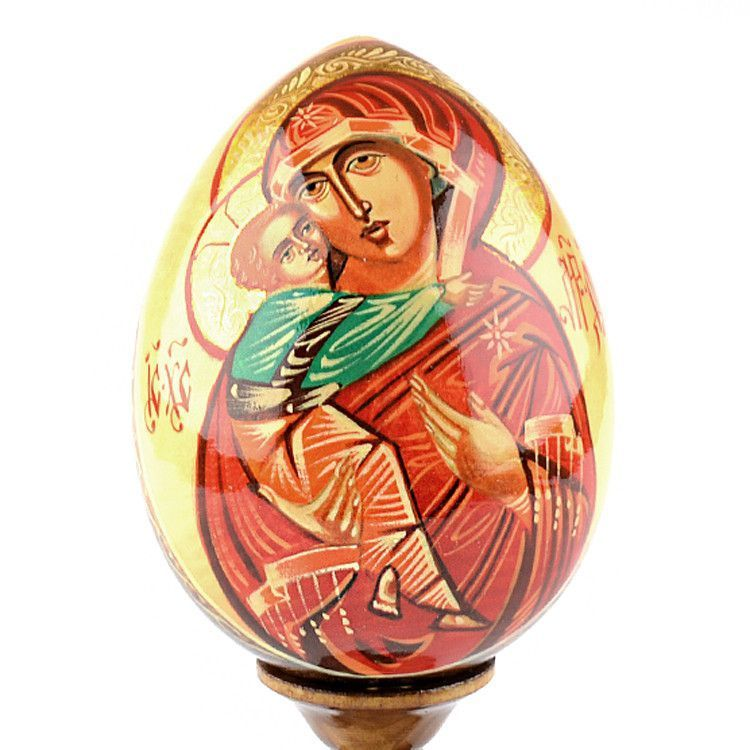 Madonna and Child Religious Egg