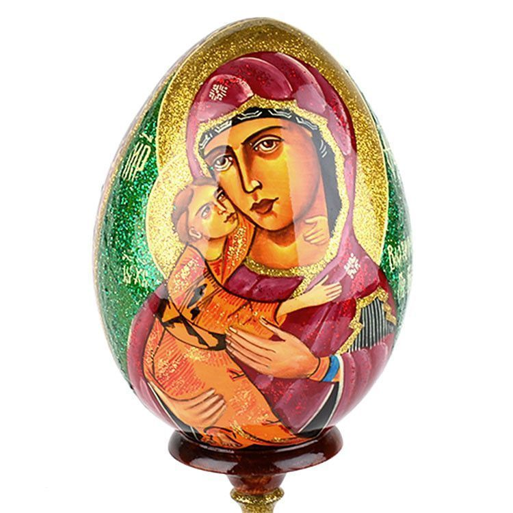 Madonna and Child Large Icon Egg