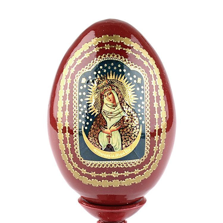 Madonna Wooden Red Egg