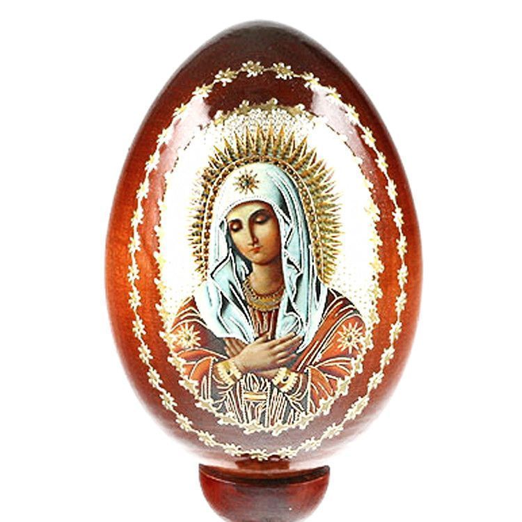 Virgin Mary Russian Religious Egg