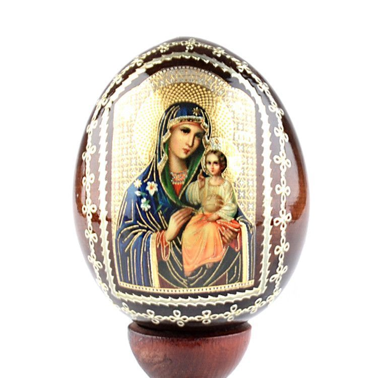 Mother Mary & Jesus Russian Egg