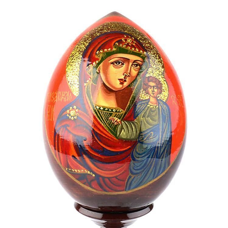 Mary And Baby Icon Egg