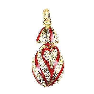 Red Russian Faberge Egg Pendant