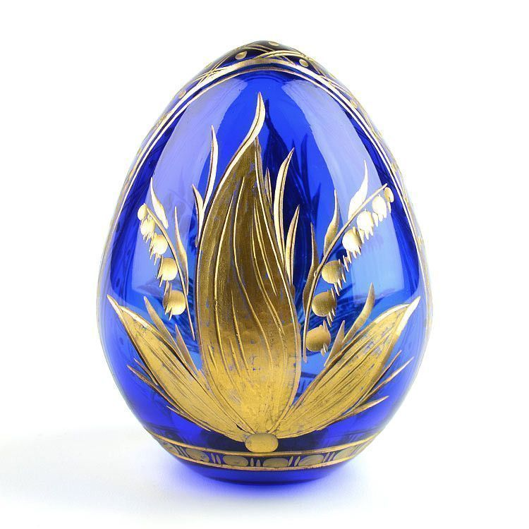 Botanical Blue Crystal Egg