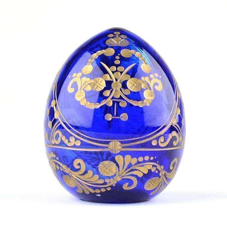 Peter The Great Blue & Gold Crystal Egg