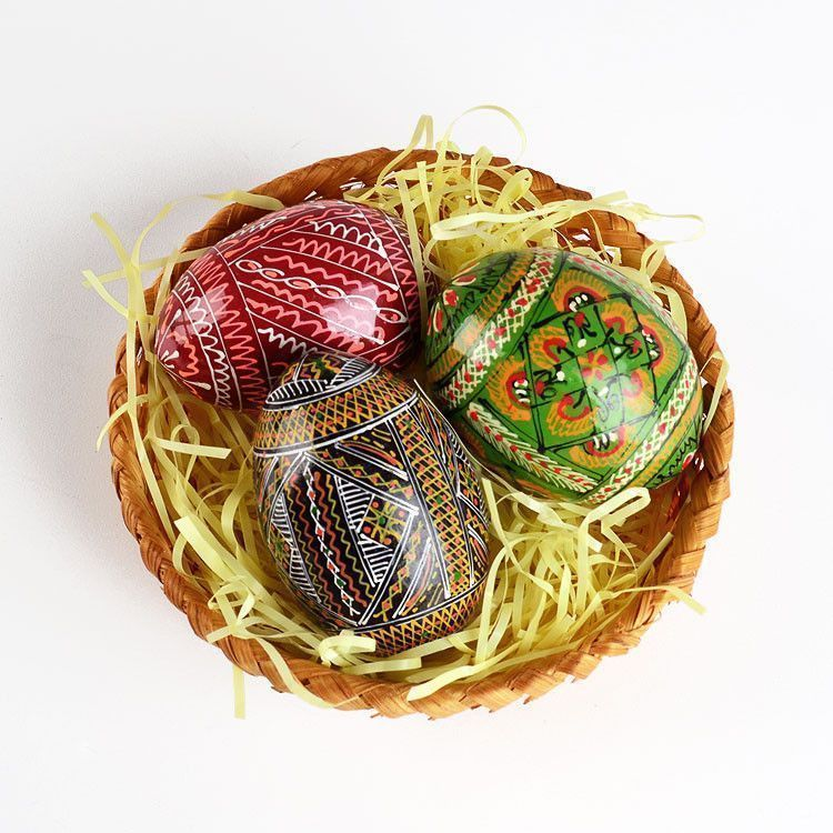 Easter Basket with Pisanki Eggs
