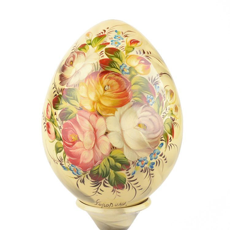Decorative Floral Egg