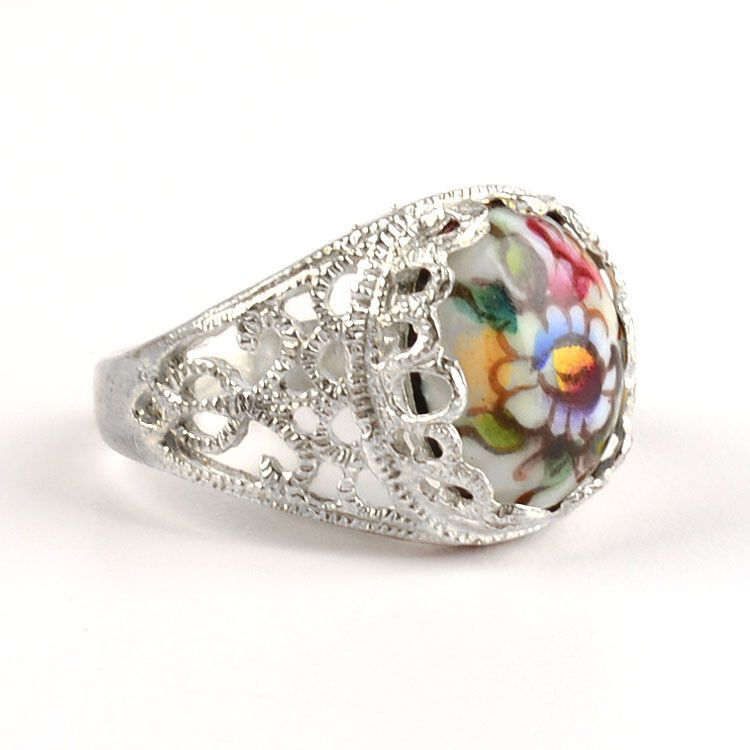 Finift Flowers Ring