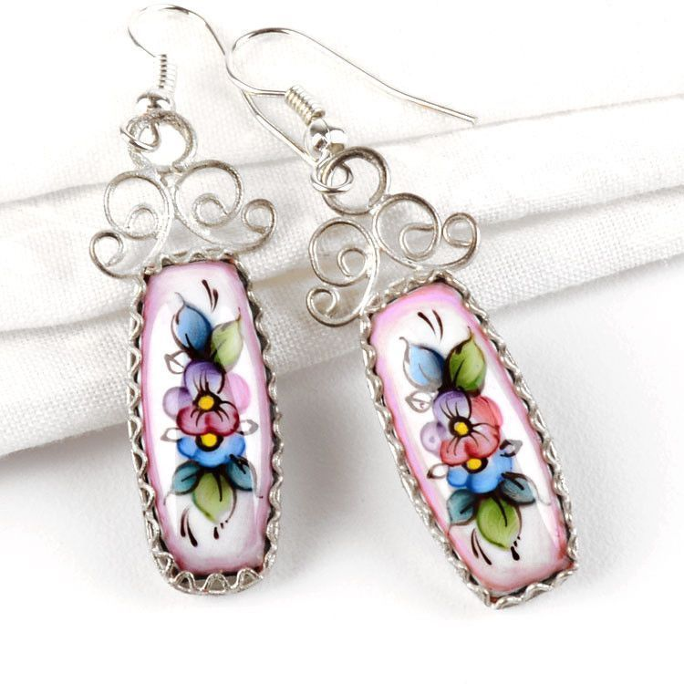 Rostov Enamel Earrings