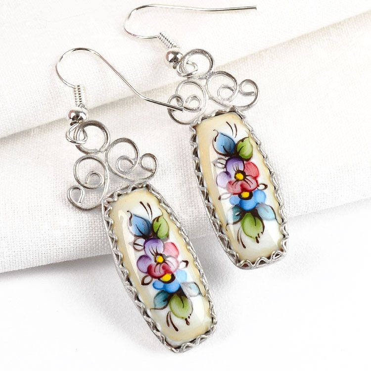 Enamel Earrings from Russia
