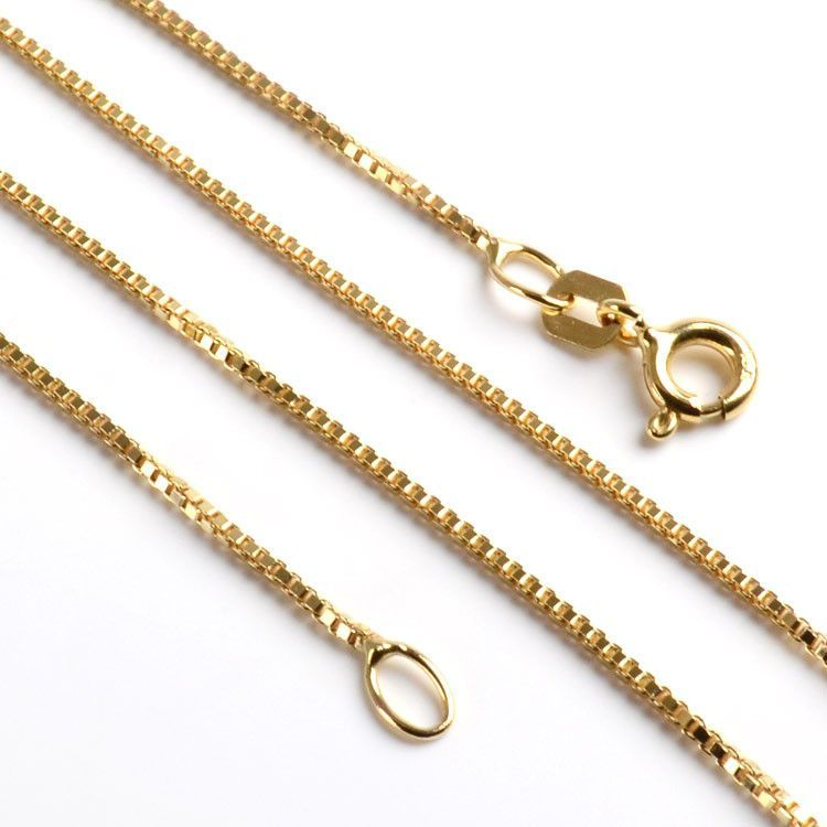 10K Gold Box Style Chain