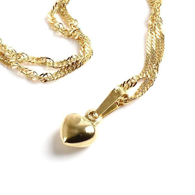 Mini Heart Necklace - 14K Gold