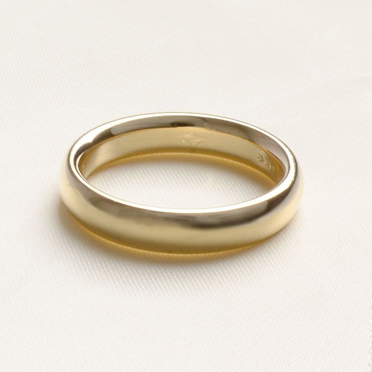 4mm Gold Band Ring - 14K