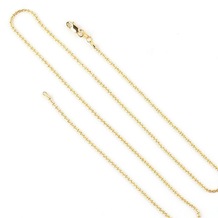 Diamond Cut 14K Gold Wheat Chain