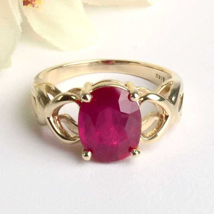 3 Carat Ruby Ring in 14K Gold