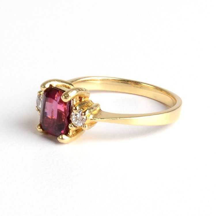 Garnet and Diamond Ring