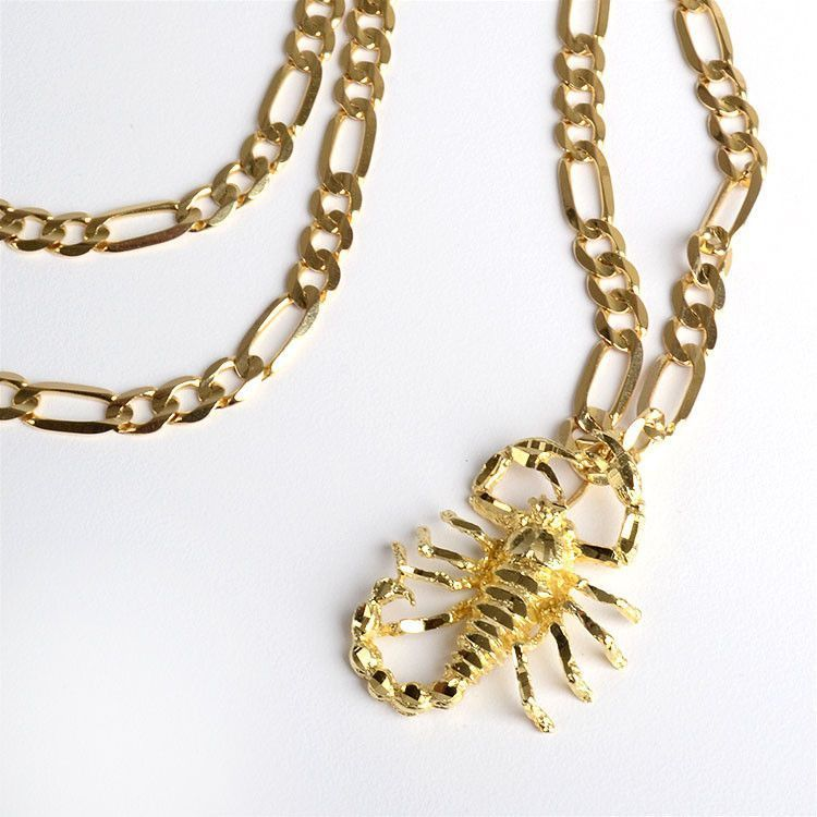 Gold Chains Gold Scorpion Chain Necklace The Russian Store