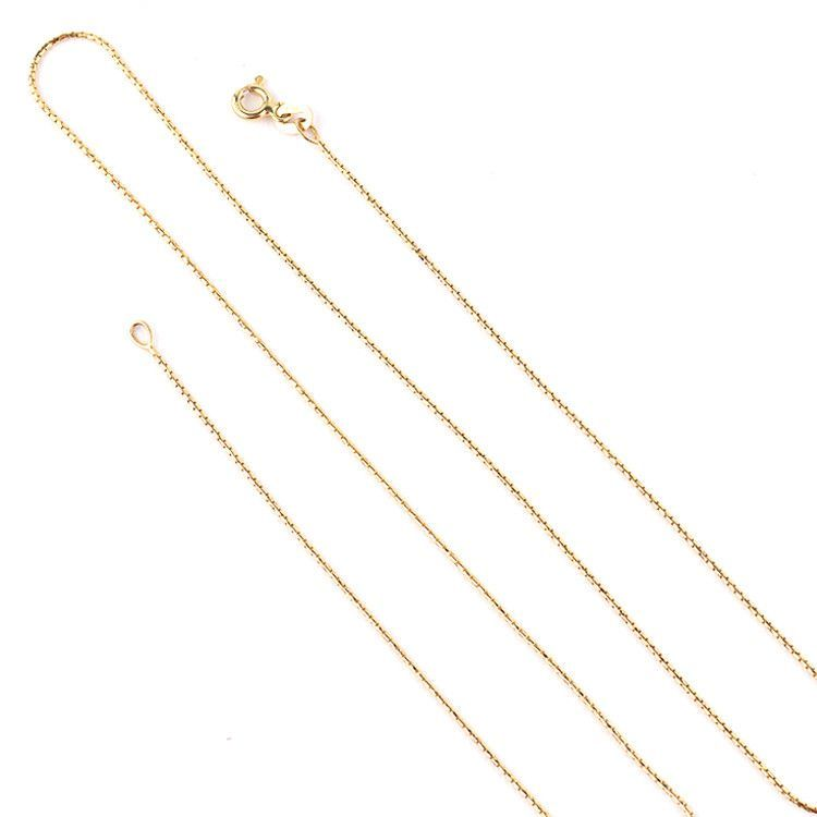 Dainty Thin Unite Box Gold Chain