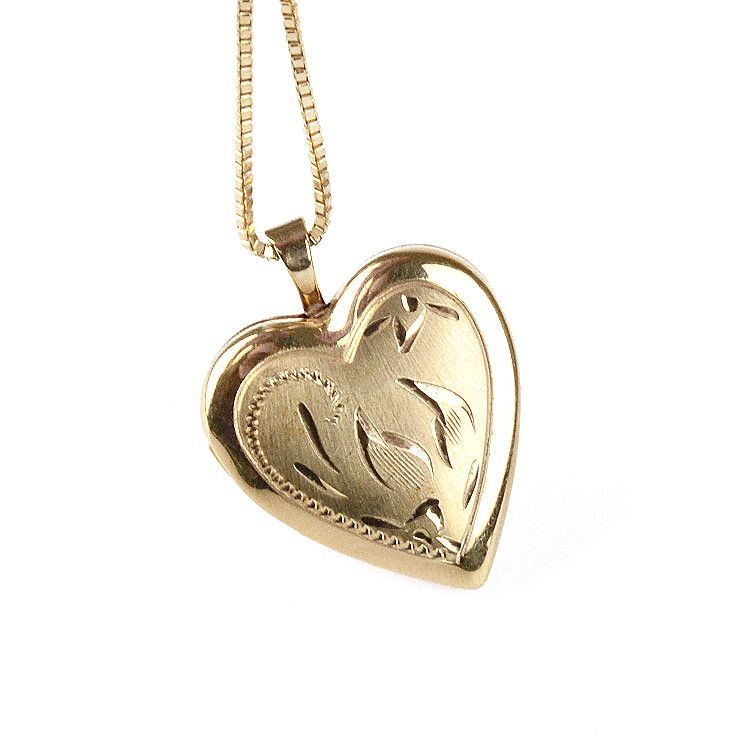 Golden Heart Locket Pendant