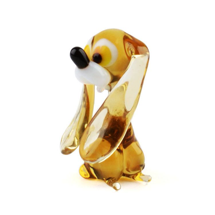 Cute Doggie Glass Figurine