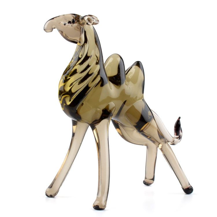 Hand Blown Camel Glass Figurine