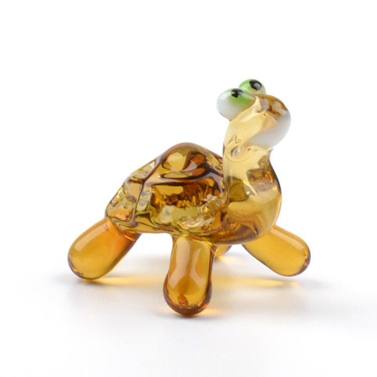 Little Turtle Glass Figurine