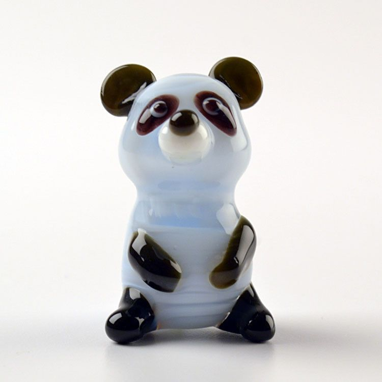 Glass Panda Figurine