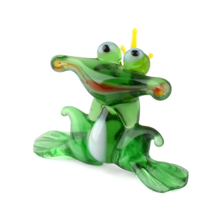 Frog Prince Glass Figurine