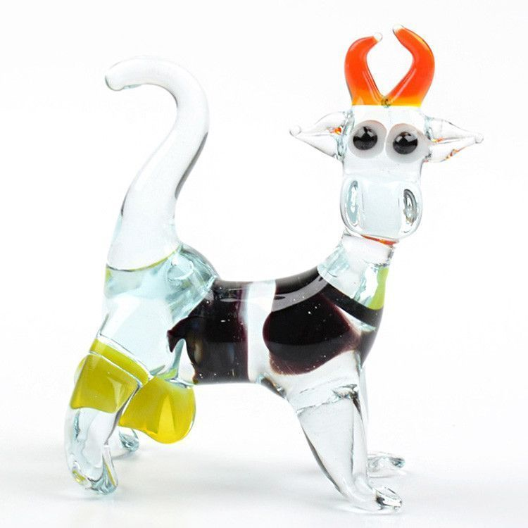 Cow Glass Figurine