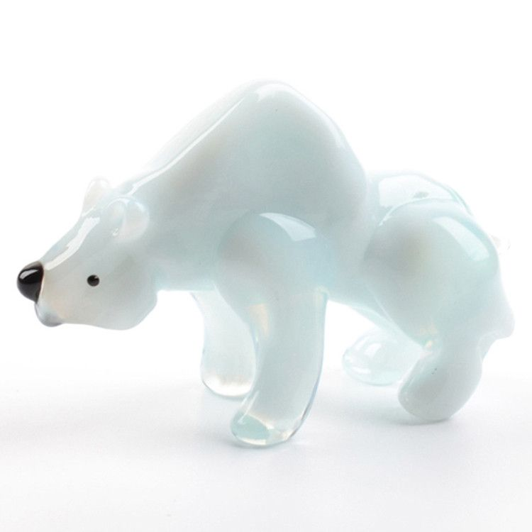 Polar Bear Glass Figurine