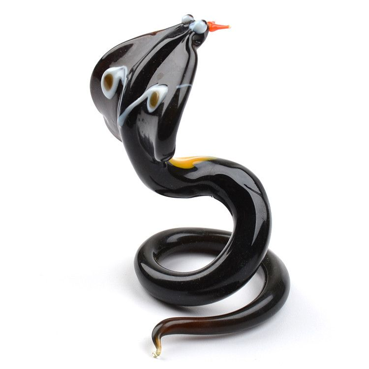 King Cobra Glass Figurine