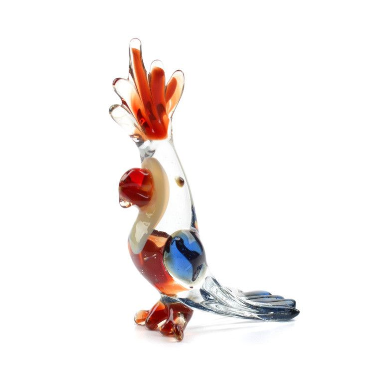 Cockatoo Parrot Glass Figurine
