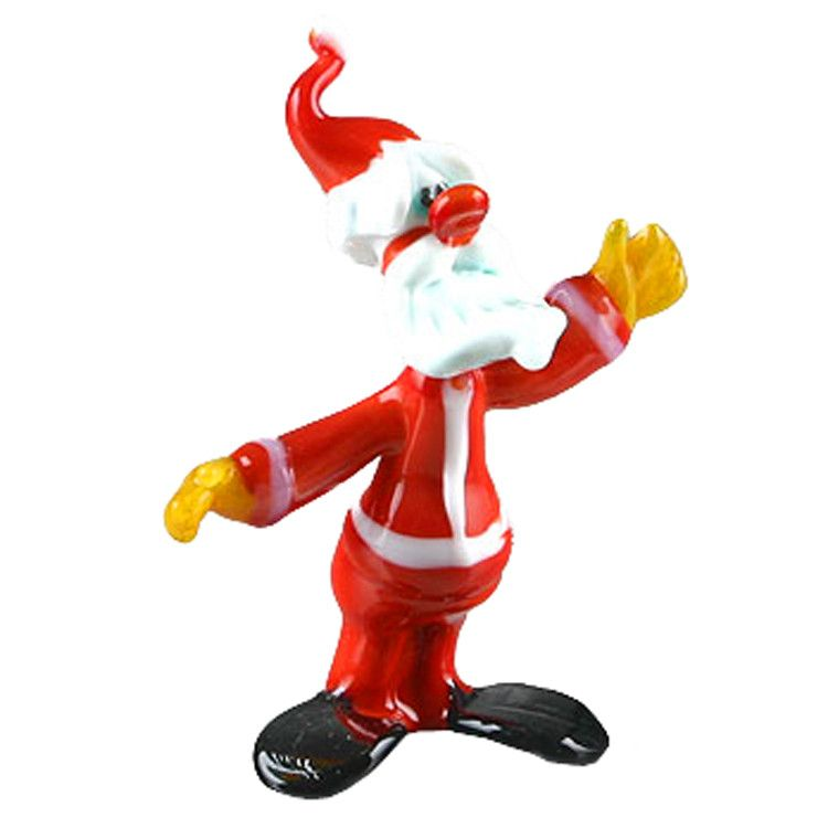 Santa Glass Figurine