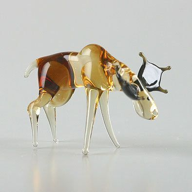 Moose Glass Figurine