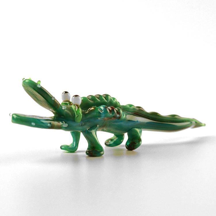 Hungry Alligator Glass Figurine