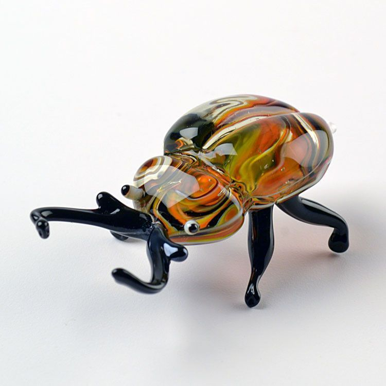 Beautiful Beetle Glass Figurine
